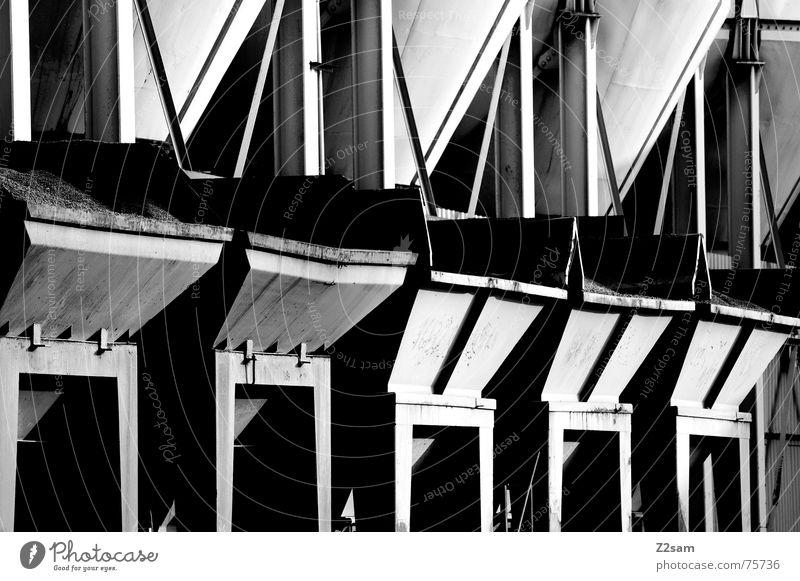 container kalt Linie Metall Ecke Industriefotografie Müll Stahl Container Gewerbe Lager abstrakt