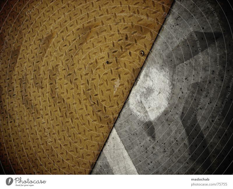ARROWS Einsamkeit Straße Wege & Pfade Hintergrundbild grau Linie Design Verkehr Erde trist Schilder & Markierungen Kommunizieren Grafik u. Illustration Bodenbelag Schnur Neigung