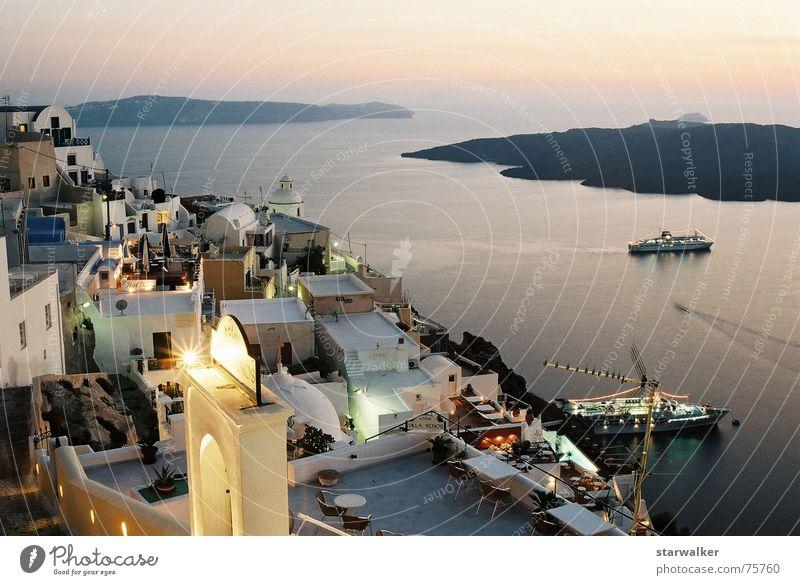 Greece 2006 - Santorin Nacht Wasserfahrzeug Sonnenuntergang Griechenland schön Aussicht fein Langzeitbelichtung Hafen Prima ambient