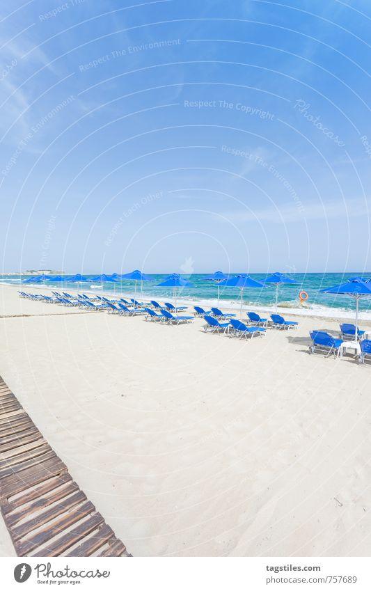 STRAND VON RETHIMNO Kreta Griechenland Rethimno Ferien & Urlaub & Reisen Reisefotografie Idylle Postkarte Tourismus Sonnenstrahlen Sommer Paradies himmlisch