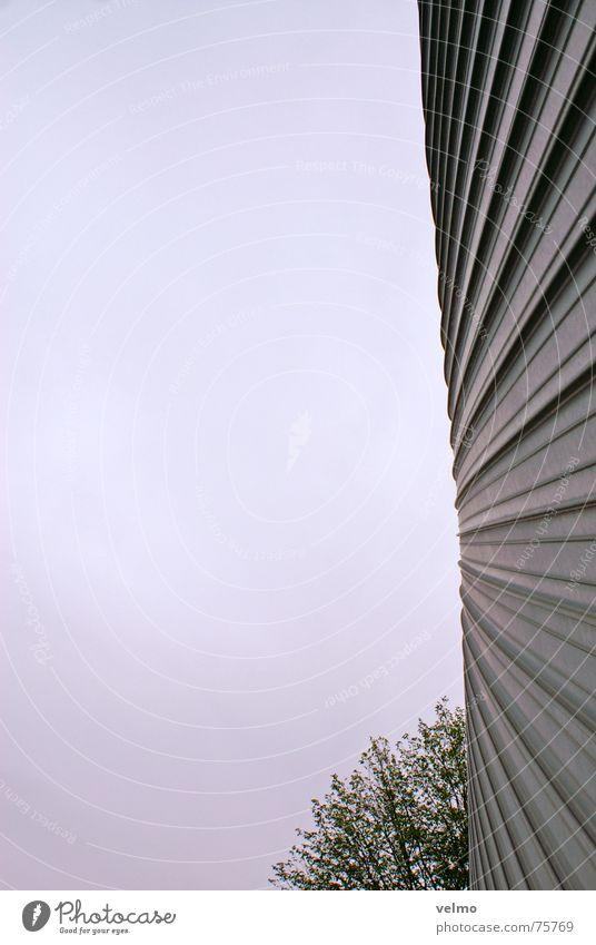 eine Wand ist (k)eine Scheibe Himmel Metall Design Fassade rund aufwärts Blech Niederlande