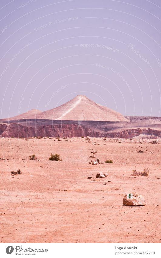 Durch die Wueste.... Natur Pflanze Landschaft Umwelt Berge u. Gebirge Wärme Wege & Pfade Sand Horizont Erde Klima Urelemente trocken Wüste heiß Klimawandel