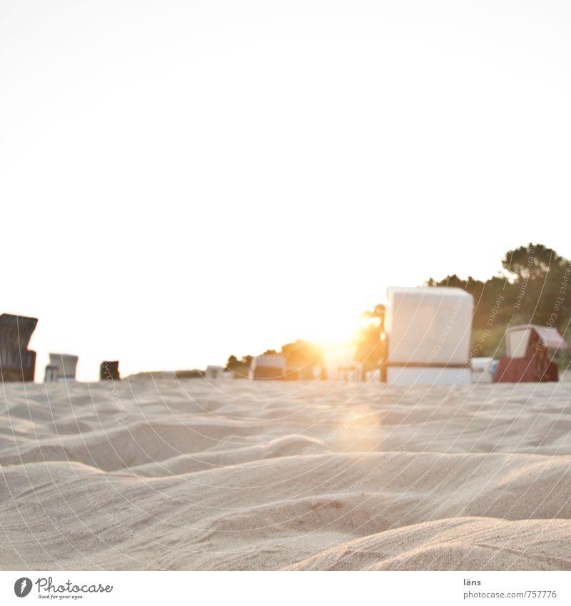 Sonnenuntergangsplatz Himmel Ferien & Urlaub & Reisen Sommer Meer Erholung Strand Leben Küste Freiheit Sand träumen liegen Zufriedenheit Tourismus Insel