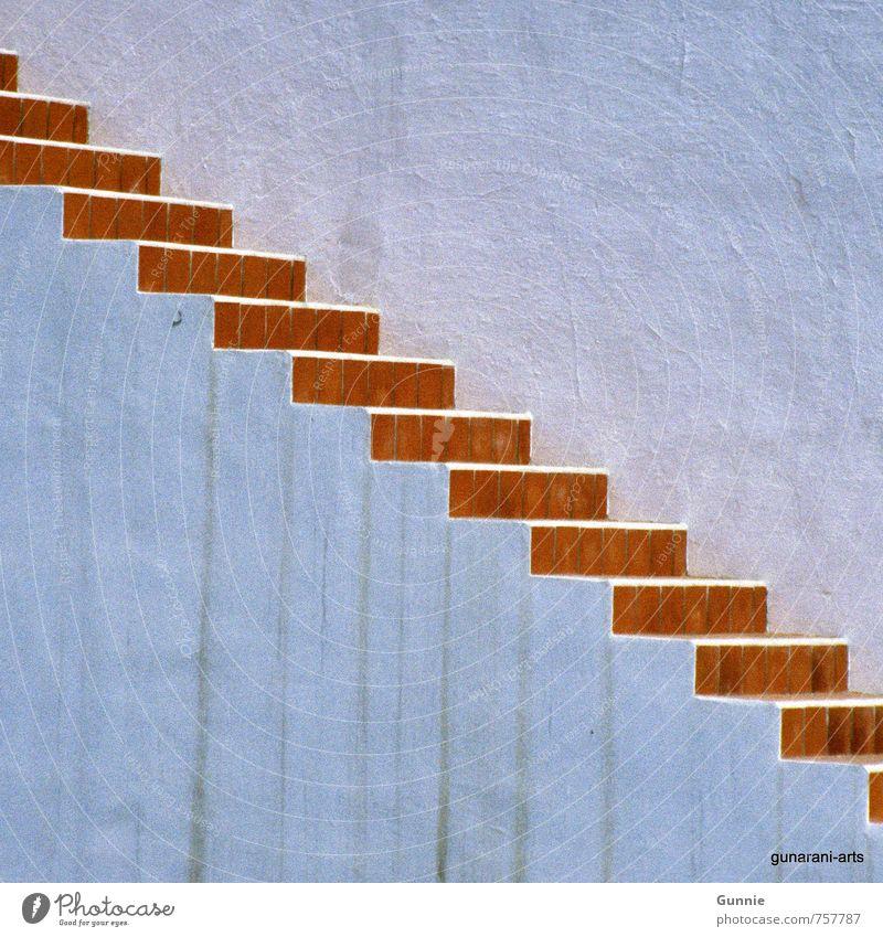 Aufwärts Haus Wand Mauer Stein Treppe hoch Tatkraft