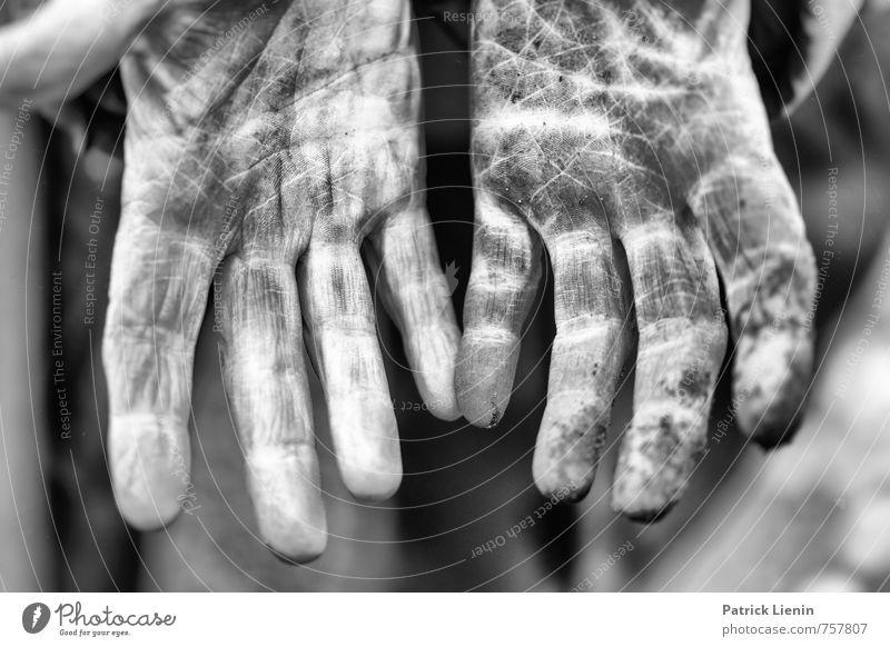 Harte Arbeit Mensch Frau Erwachsene Hand Finger 1 Arbeit & Erwerbstätigkeit entdecken dreckig einzigartig natürlich wild anstrengen ästhetisch Zufriedenheit