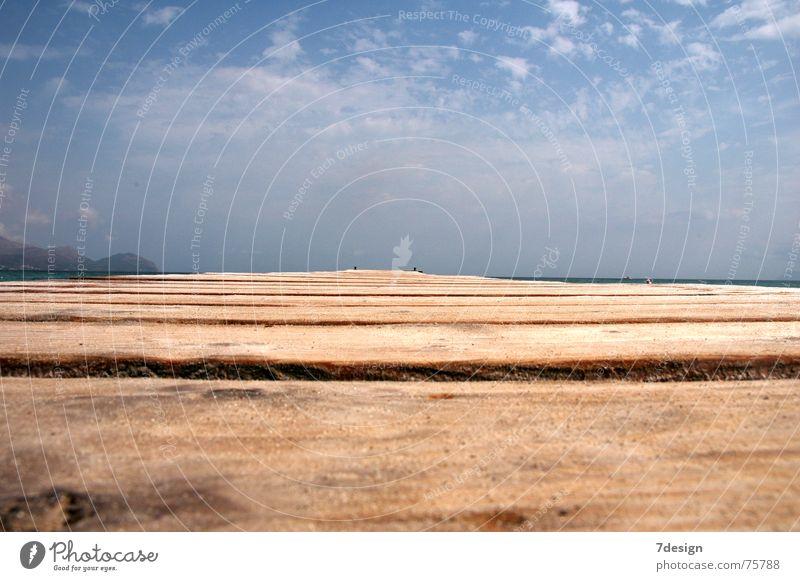 Naturlaufsteg Meer Wolken Holz Bodenbelag Steg Laufsteg