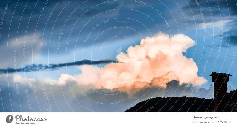 Himmel Natur blau Himmel (Jenseits) schön Sommer weiß Wolken dunkel Stimmung hell Horizont Wetter Luft Aussicht Klima