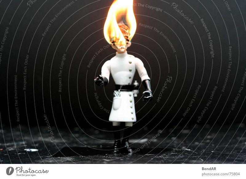 Burning Professor Hochschullehrer brennen dunkel Spielzeug schwarz Brand Flamme