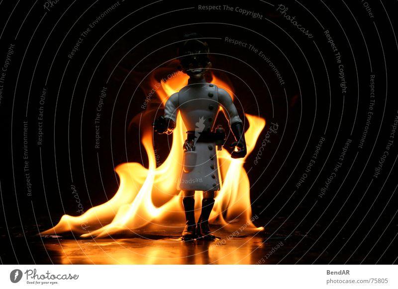 Burnin Professor - Terminator schwarz dunkel Brand Spielzeug brennen Flamme Lehrer Hochschullehrer
