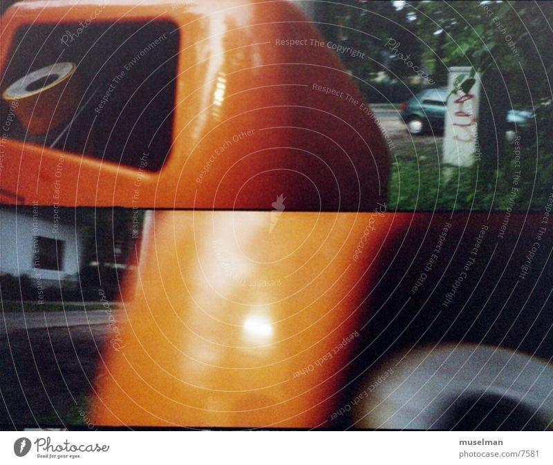 trashbin Müllbehälter Eimer bsr orange dustbin trashig Lomografie supersampler