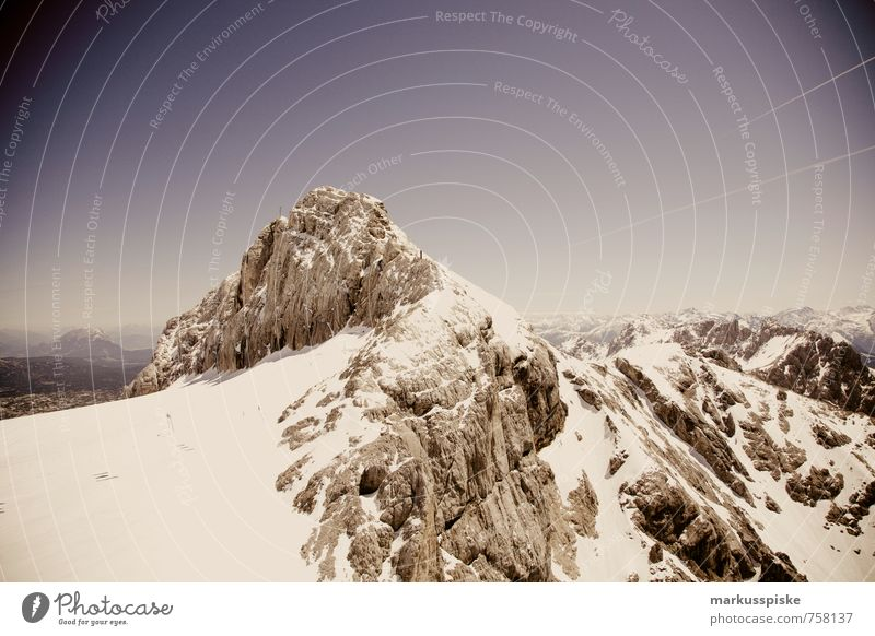 dachsteingletscher berg gipfel Ferien & Urlaub & Reisen Sommer Freude Ferne Berge u. Gebirge Glück Freiheit Felsen Freizeit & Hobby Tourismus laufen Ausflug