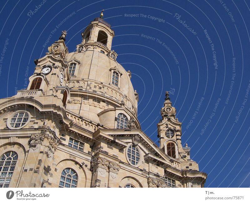 Frauenkirche Dresden Gebäude Kuppeldach Erneuerung Religion & Glaube Barock sakralbau sandsteinbau Architektur