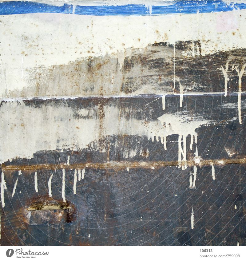 DELROY Metall Rost alt Farbstoff Anstrich Rest Müll aussortiert nasen drops gestrichen Farbfoto Studioaufnahme Muster Strukturen & Formen Menschenleer