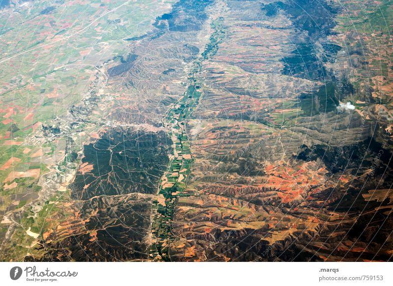 Landstrich Umwelt Natur Landschaft Pflanze Erde fliegen Aussicht Landschaftsformen hoch Ferne Satellitenbild Farbfoto Außenaufnahme Luftaufnahme Menschenleer