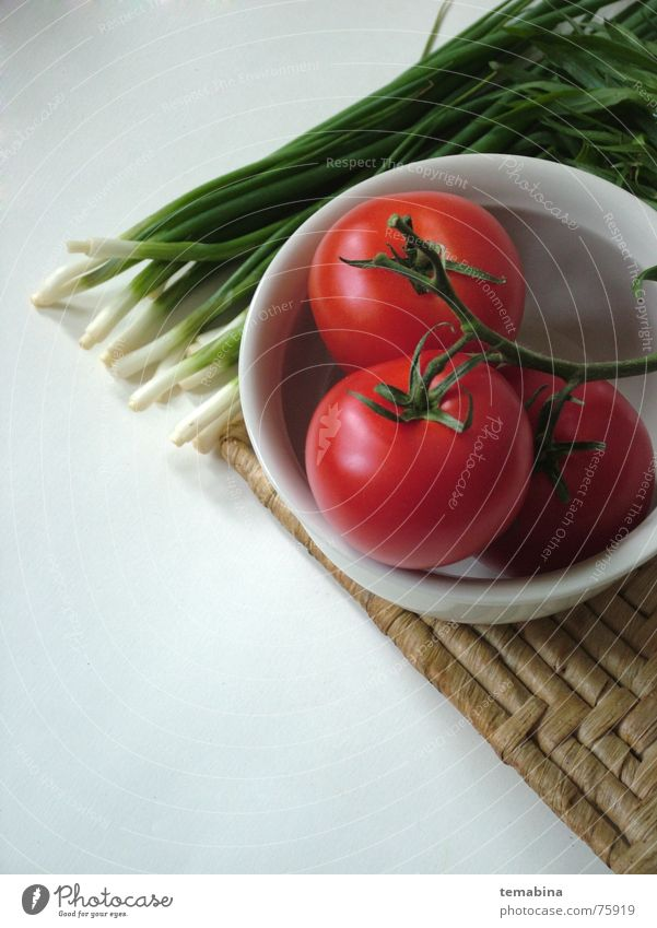 Vegetables Hintergrundbild einfach vegetable tomato blow white sping onions chives dish bolster red