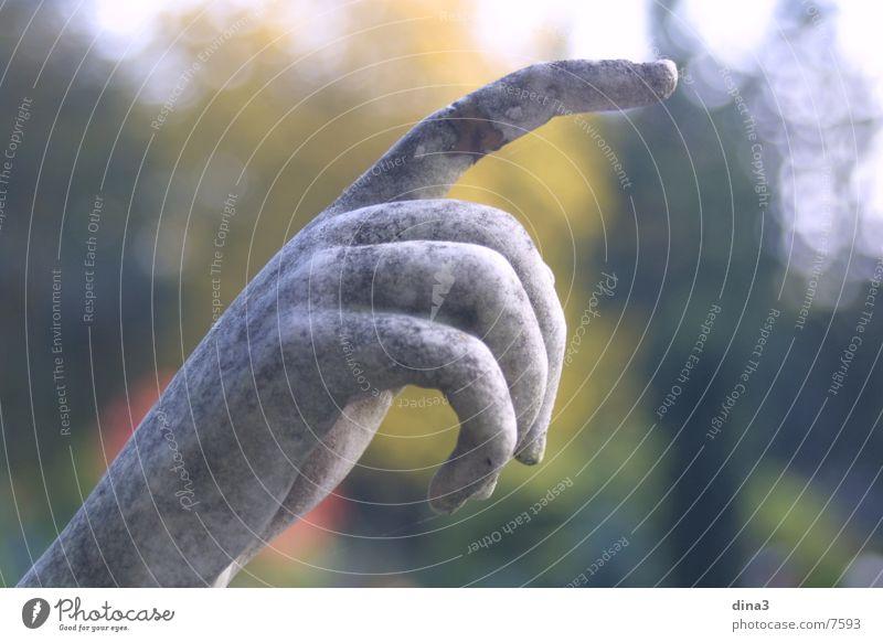 Richtung Finger Mensch Wegweiser