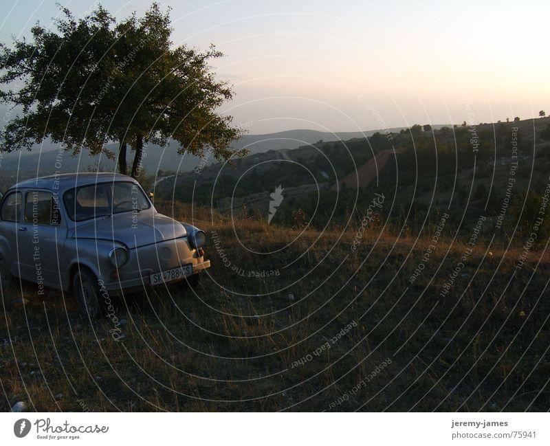 Frische  abend Luft Baum Berge u. Gebirge PKW Hügel Sommerabend