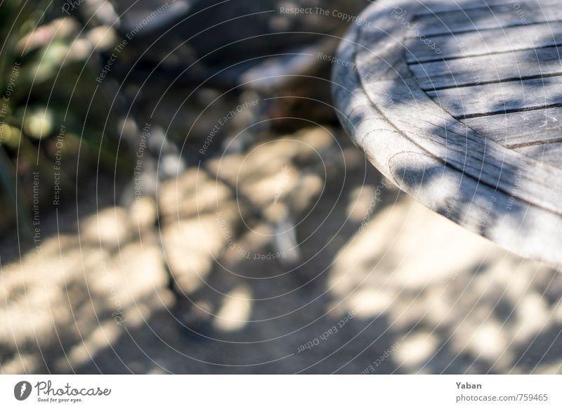 Sommereckle Garten Tisch Park Holz sitzen Freizeit & Hobby genießen Gesellschaft (Soziologie) Farbfoto Außenaufnahme Menschenleer Tag Licht Schatten
