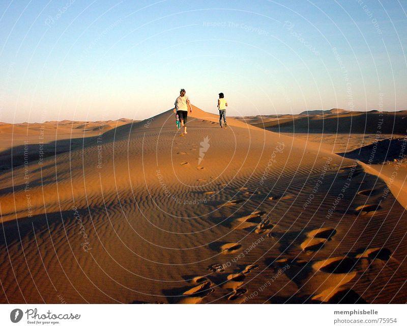 Dünenwanderung Swakopmund Afrika Namibia Dämmerung Stranddüne Spaziergang Abend