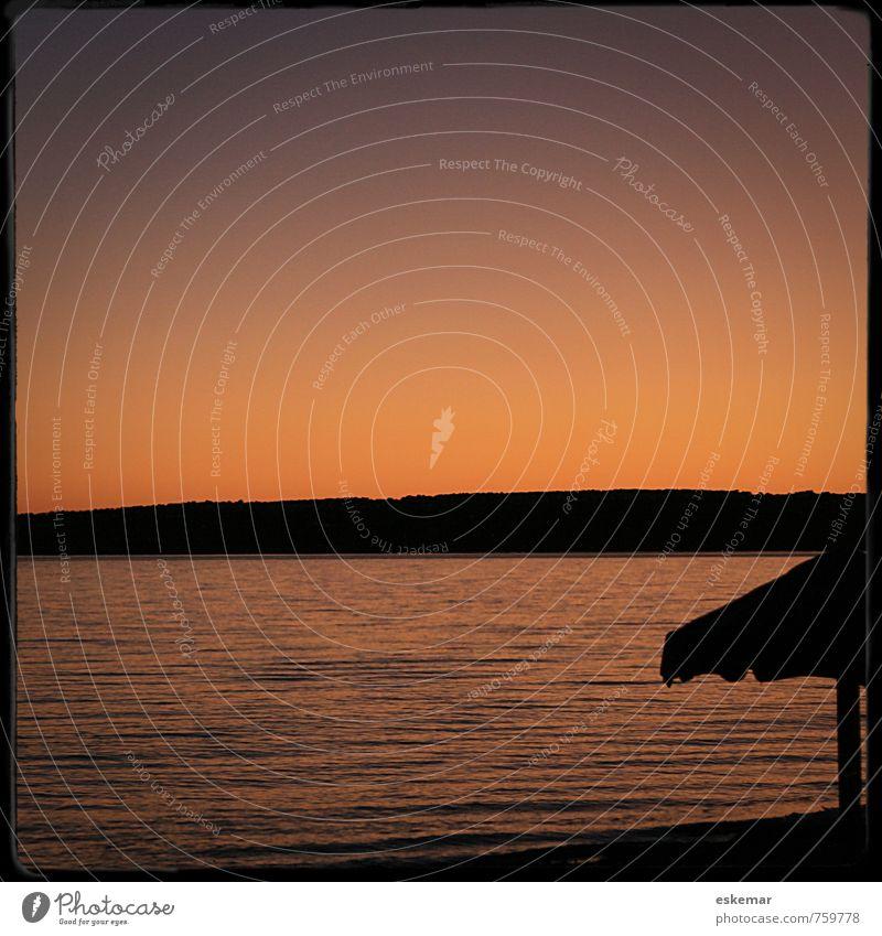 Formentera Natur Ferien & Urlaub & Reisen Wasser Sommer Sonne Meer Erholung Landschaft ruhig Strand Küste Schwimmen & Baden Stimmung orange Wellen Zufriedenheit