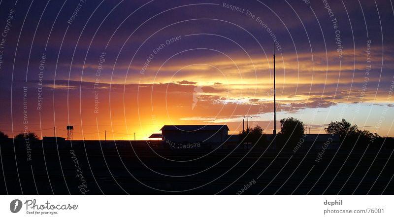 Nachtlicht Himmel Ferien & Urlaub & Reisen Haus Wolken Gebäude Landschaft Afrika Bahnhof Süden Namibia