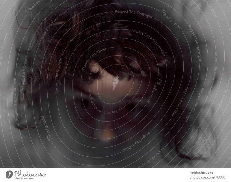 Eisleiche Frau Mensch Gesicht dunkel Tod Haare & Frisuren grau Kopf gefroren
