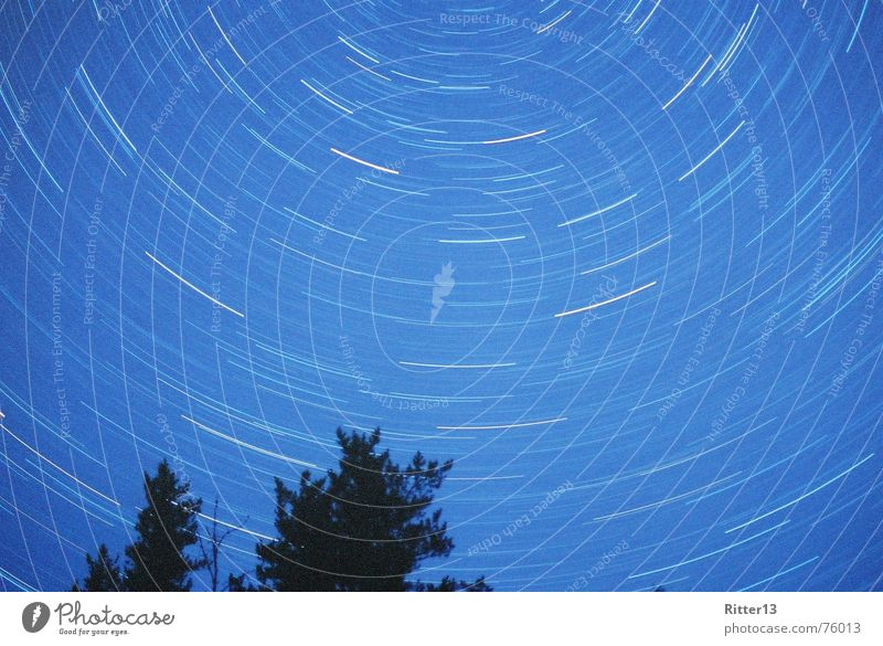 Northern Sky Himmel sky night vortex polaris blur long exposure nude