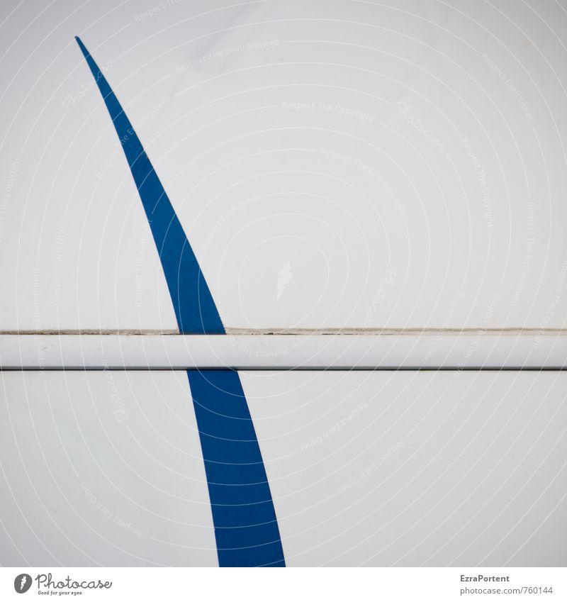 Haifischflosse Stil Wohnmobil Wohnwagen Kunststoff Zeichen Linie Streifen hell blau weiß Karosserie Schwung schwungvoll gerade Design Grafik u. Illustration