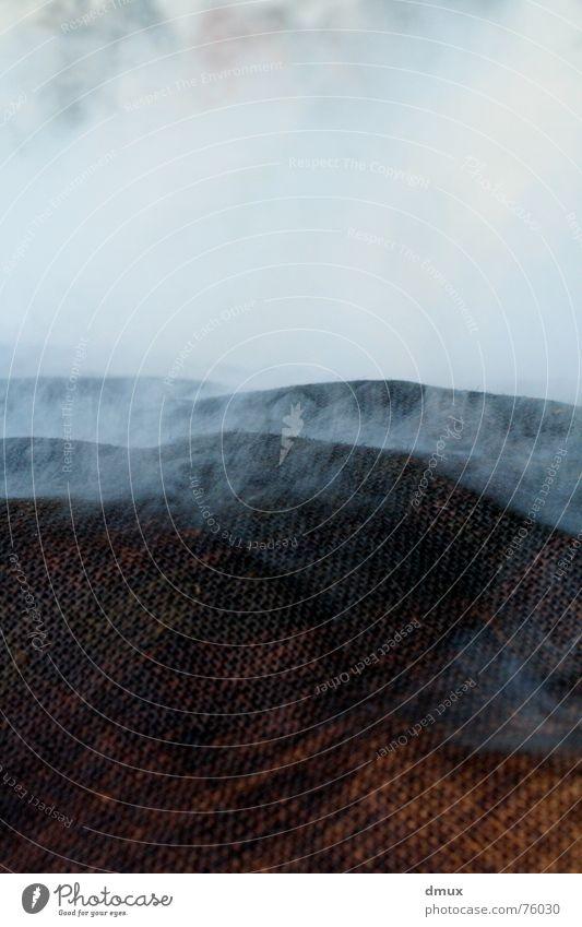 Dampf Hügel Stoff Wolken Nebel dämpfen Wasserdampf Rauch Landschaft leer