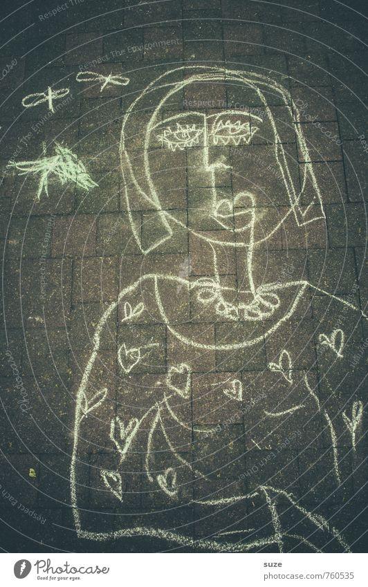 Mein Therapeut hält dich für eine gute Idee. Freude Freizeit & Hobby Spielen Kinderspiel feminin Frau Erwachsene Kindheit Kunst Gemälde Platz Straße Zeichen