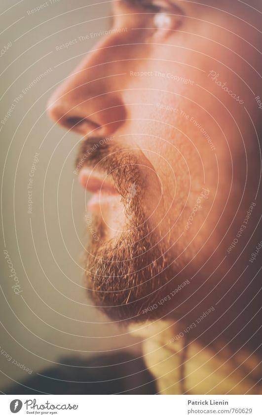 I don't know Mensch Mann Erholung ruhig Erwachsene Gesicht Haare & Frisuren Gesundheit Kopf träumen maskulin Lifestyle Körper Zufriedenheit wild Haut