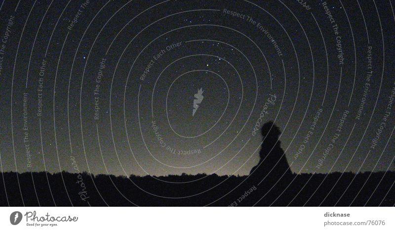 Navigating by the stars... Denken Stern Suche Romantik beobachten Typ genießen Alm einzeln Sternenhimmel