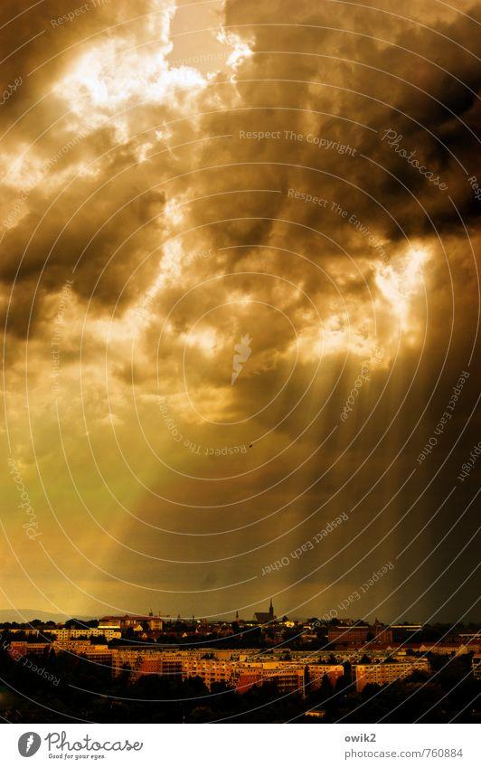 Skeilein Umwelt Natur Himmel Wolken Horizont Klima Wetter Schönes Wetter Bautzen Deutschland Kleinstadt Skyline bevölkert Haus Kirche Dom Bauwerk Gebäude