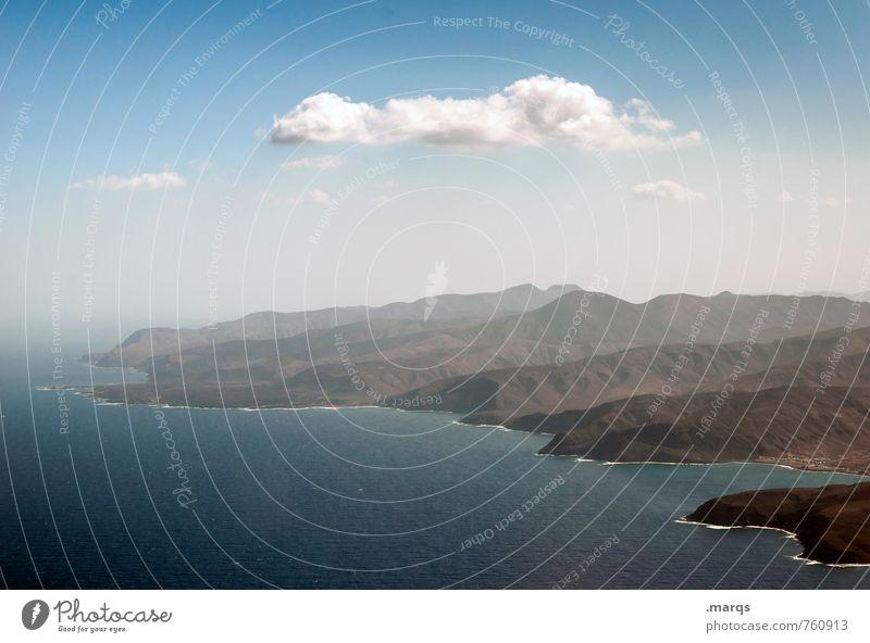 Küste Ferien & Urlaub & Reisen Tourismus Abenteuer Ferne Natur Landschaft Himmel Wolken Sommer Schönes Wetter Berge u. Gebirge Meer Atlantik Fuerteventura