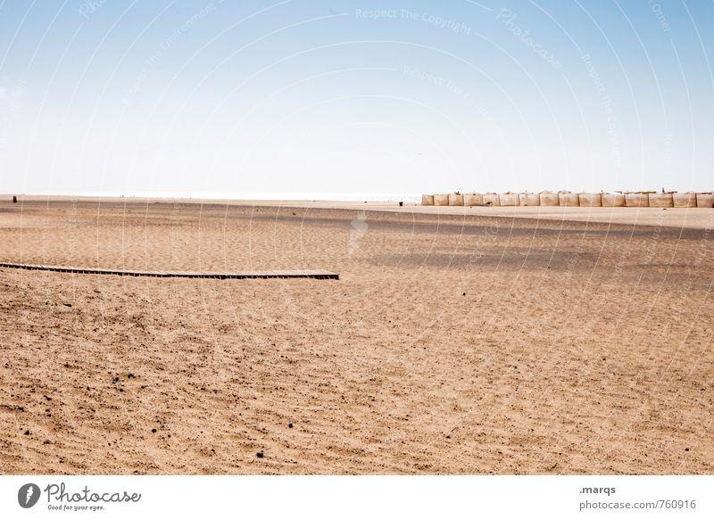 Off-Season Natur Ferien & Urlaub & Reisen Sommer Erholung Einsamkeit Landschaft Strand Ferne Sand Stimmung Horizont Tourismus Schönes Wetter Spanien Wolkenloser Himmel Sommerurlaub
