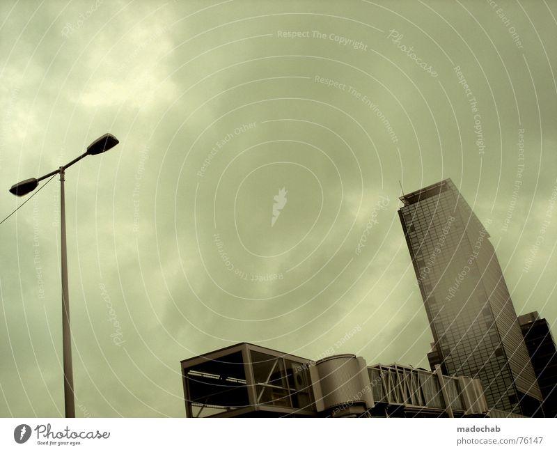 PLUG-IN CITY Himmel Wolken schlechtes Wetter himmlisch Götter Unendlichkeit Haus Hochhaus Gebäude Material Fenster live Block Beton Etage Vermieter Mieter trist