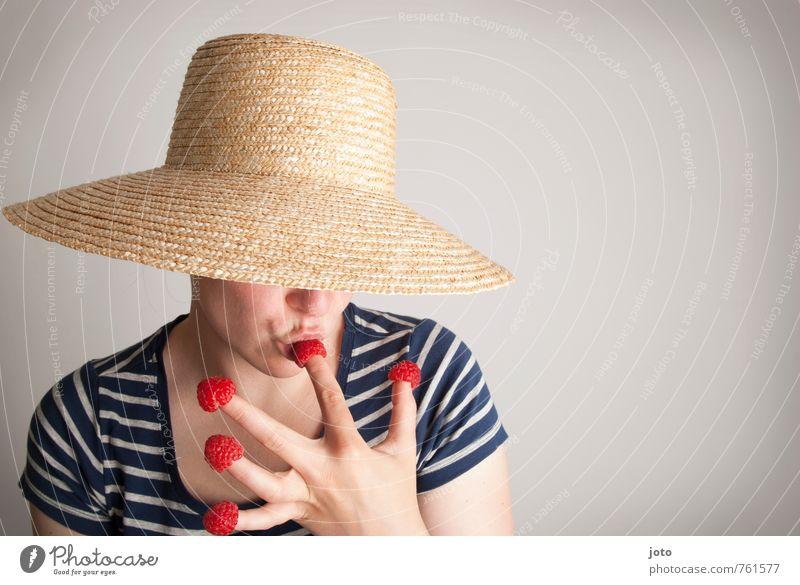 himbeerschmaus II Jugendliche Sommer Junge Frau Freude Gesunde Ernährung Glück Gesundheit Essen Freizeit & Hobby Zufriedenheit Frucht frisch genießen