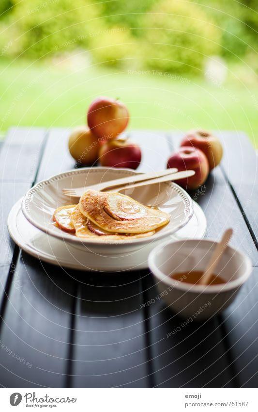 fresh Frucht Ernährung süß Süßwaren lecker Apfel Dessert Slowfood Pfannkuchen