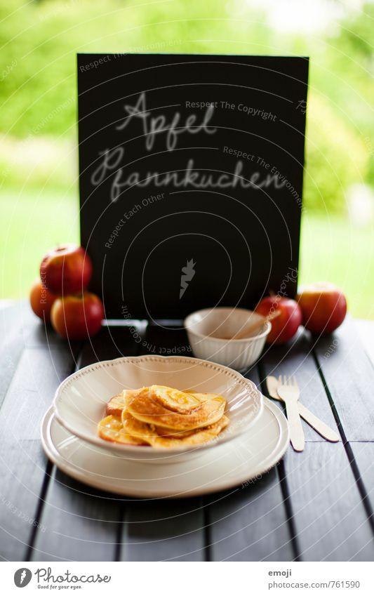 aktuell Frucht Schilder & Markierungen Schriftzeichen Ernährung süß Süßwaren lecker Apfel Backwaren Teigwaren Dessert Büffet Brunch Slowfood Pfannkuchen
