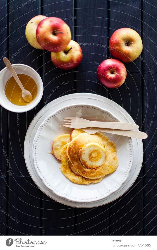 Apfel Pfannkuchen Frucht Ernährung süß Süßwaren lecker Backwaren Dessert Teigwaren Marmelade