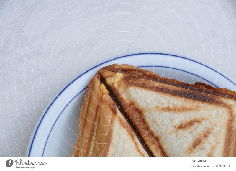 Hunger! Lebensmittel Brot Toastbrot Ernährung Frühstück Teller Gesunde Ernährung Essen Duft eckig Gesundheit lecker braun weiß Lebensfreude Appetit & Hunger