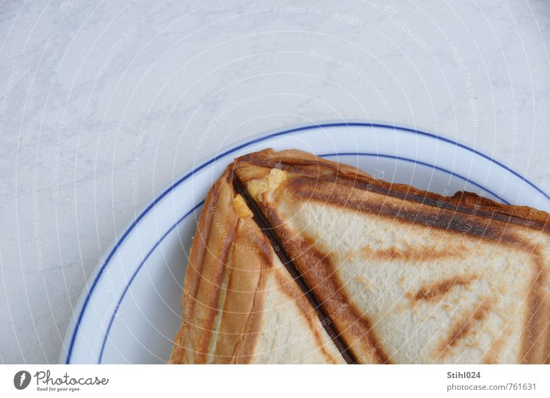 Hunger! weiß Gesunde Ernährung Gesundheit Essen braun Lebensmittel Lebensfreude lecker Appetit & Hunger Duft Frühstück Brot eckig Teller Dreieck