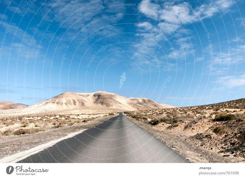 Roadtrip Himmel Natur Ferien & Urlaub & Reisen Sommer Einsamkeit Landschaft Wolken Umwelt Straße Wege & Pfade Freiheit Stimmung Horizont Perspektive Ausflug