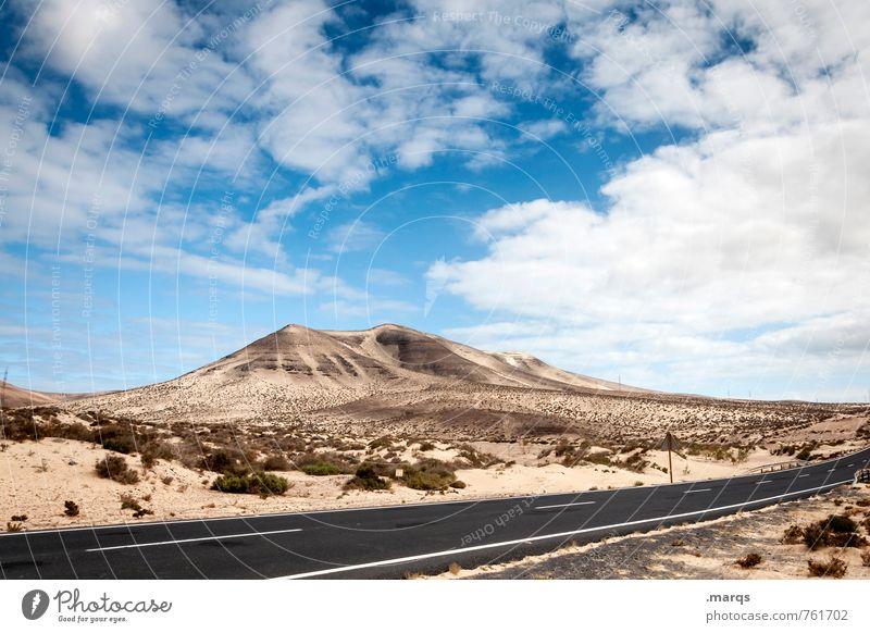 Trip Himmel Natur Ferien & Urlaub & Reisen schön Sommer Einsamkeit Landschaft Wolken Ferne Umwelt Berge u. Gebirge Straße Wege & Pfade Freiheit Sand Stimmung