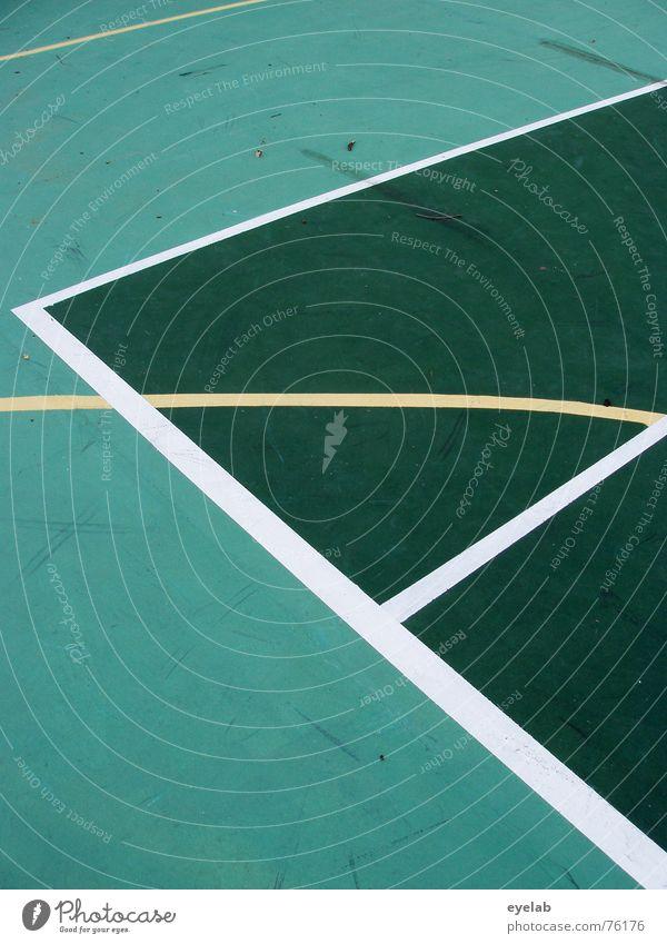 Wem gehört das Linienpatent ? grün gelb weiß Tennis Tennisplatz Sportplatz rund Hoffnung Sommer Ferien & Urlaub & Reisen Spielen lines white centerourt court