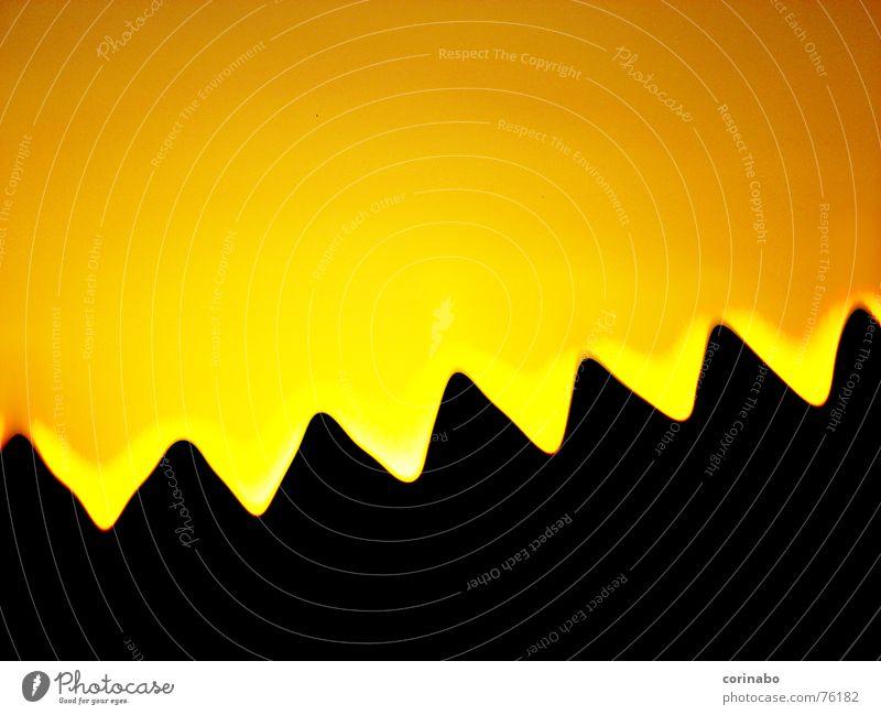 natur? Sonnenuntergang abstrakt schwarz Berge u. Gebirge Natur orange Himmel Landschaft