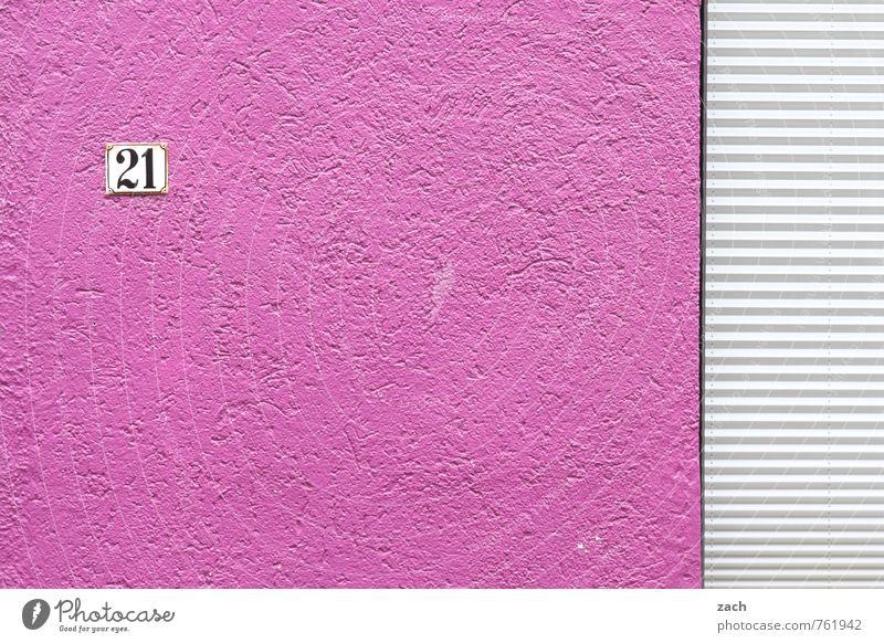 Textfreiraum | 21 Jump Street Haus Wand Architektur Mauer Gebäude Linie rosa Wohnung Fassade Häusliches Leben Schilder & Markierungen Hinweisschild Zeichen