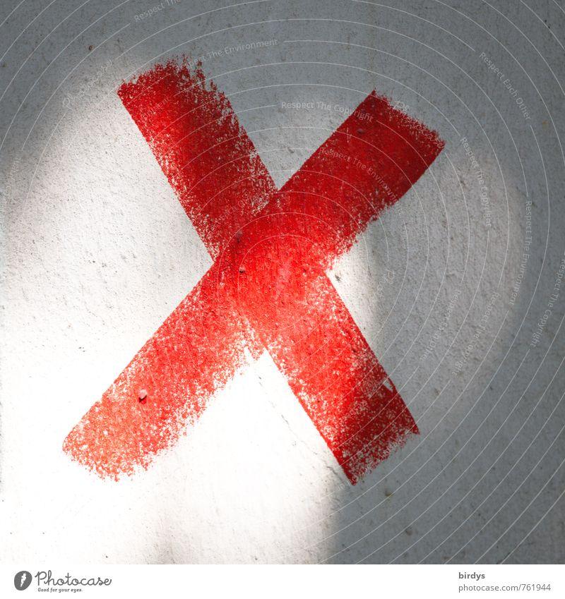 X weiß rot Graffiti Schriftzeichen Zeichen Buchstaben Jugendkultur Kreuz