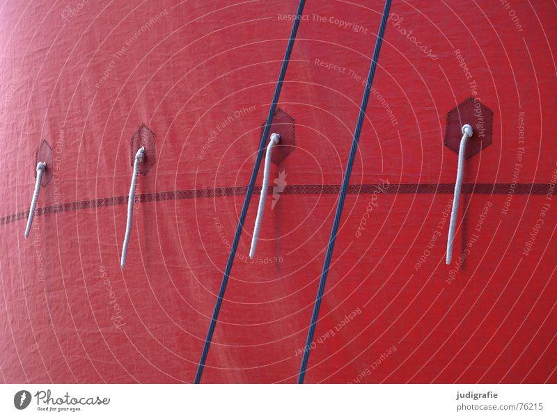 Zeesbootsegel rot Farbe Lampe braun Seil 4 Segel Darß Segelboot Knoten Fischereiwirtschaft Naht maritim Fischerboot Fischland-Darß-Zingst