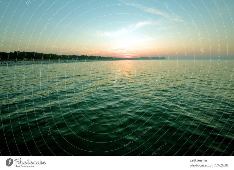 Ostsee Erholung Ferien & Urlaub & Reisen Ferne göhren Horizont Mecklenburg-Vorpommern Meer mönchgut Rügen Sonnenuntergang Himmel Strand Panorama (Aussicht)